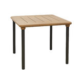 Wooden outdoor table isolated Stock Photo