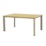 Wooden outdoor table isolated Stock Photography
