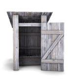 Wooden outdoor toilet Royalty Free Stock Photos