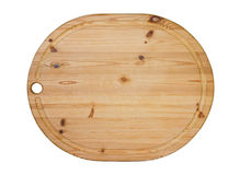 Wooden oval cutting board Stock Image