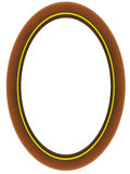 Wooden oval framework. For a family photo in a vector Royalty Free Stock Images