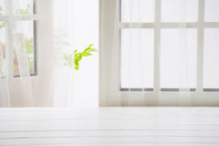 Wooden over summer window background Royalty Free Stock Photos