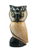 Wooden owl. A wooden owl carved out of wood Royalty Free Stock Photography
