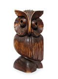 Wooden owl carved figurine Stock Image