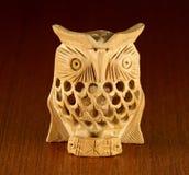 Wooden owl decor Stock Photos