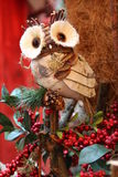 Wooden owl handicraft Stock Photos