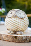Wooden Owl Wedding Decor Stock Images