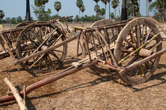 Wooden ox cart. Royalty Free Stock Image