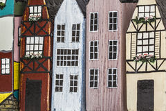 Wooden oy houses close-up Stock Photo