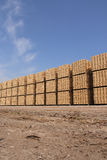 Wooden packing crates. Piles (vertical Stock Photography