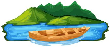 Wooden Paddle Boat in Nature Stock Photos