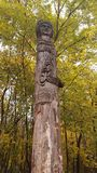Wooden pagan statue. Royalty Free Stock Image