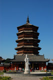 Wooden pagoda Royalty Free Stock Images