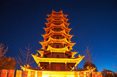 Wooden Pagoda. In gansu province,China Royalty Free Stock Images