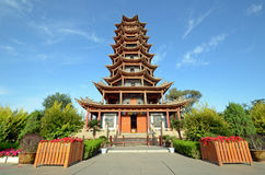 Wooden Pagoda Temple Stock Photos
