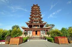Wooden Pagoda Temple Stock Photos