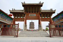 Wooden Pagoda in Ying County, Shanxi Province Royalty Free Stock Photography