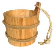Wooden pail stock images