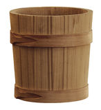 Wooden pail Royalty Free Stock Images
