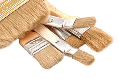 Wooden paint brush Stock Images