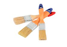 Wooden paint brush Royalty Free Stock Images