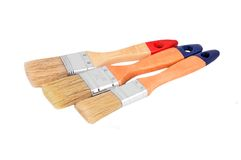 Wooden paint brush Stock Photography