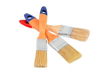 Wooden paint brush Royalty Free Stock Photography