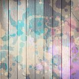 Wooden with paint splashes template. plus EPS10. Grunge wooden with paint splashes template. plus EPS10 vector file Stock Image