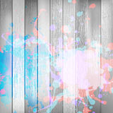 Wooden with paint splashes template. plus EPS10 royalty free stock photography