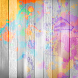 Wooden with paint splashes template. plus EPS10 stock photography