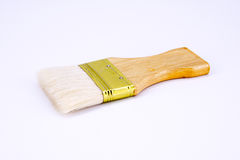 Wooden paintbrush isolated Stock Images