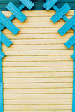 Wooden painted bright yellow and blue boards Royalty Free Stock Image