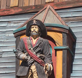 Wooden painted carving of Pirate Royalty Free Stock Photography