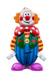 The wooden painted clown. On a white background Royalty Free Stock Images