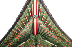 Wooden painted palace building seoul south korea stock images
