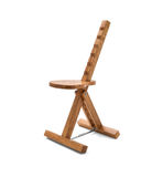 Wooden painter chair Royalty Free Stock Images