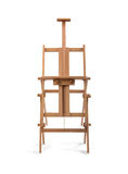Wooden painter easel isolated on white background Stock Photo