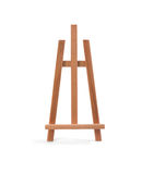 Wooden painter easel isolated on white Royalty Free Stock Photography