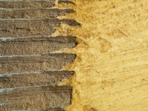Wooden painting surface. Rough oil painting texture surface Stock Photo