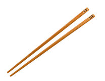 Wooden pairs of chopsticks Stock Photography