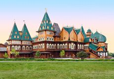 The wooden palace Royalty Free Stock Photos