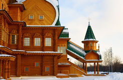 Wooden palace in Kolomenskoe in Moscow Royalty Free Stock Photography