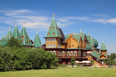 Wooden palace in Kolomenskoe, Moscow Royalty Free Stock Photo