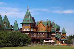 Wooden palace in Kolomenskoe, Moscow Stock Photo