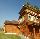 Wooden palace in Kolomenskoe (panorama) Royalty Free Stock Photo