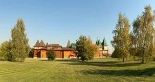Wooden palace in Kolomenskoe (panorama) Stock Photo