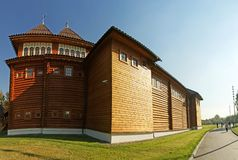 Wooden palace in Kolomenskoe (panorama) Stock Image
