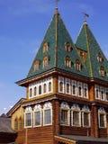 Wooden palace in Kolomenskoye. Wooden palace of Tsar Alexey Mikhailovich in Kolomenskoye, Moscow, Russia Stock Photo
