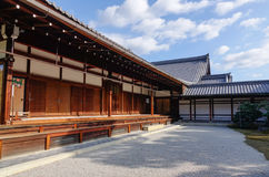 A wooden palace in Kyoto, Japan Royalty Free Stock Photos