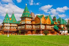 Wooden palace in Russia Royalty Free Stock Images